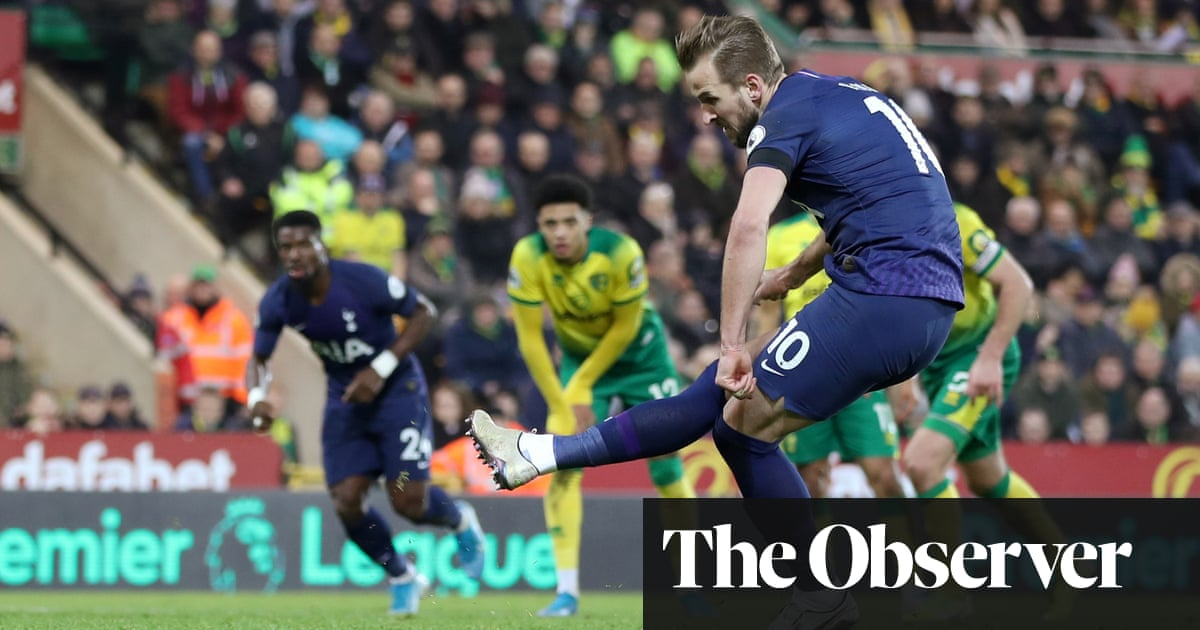 Harry Kane rescues point for Spurs at Norwich after Aurier's farcical own goal