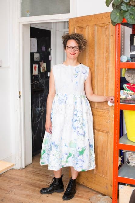 Dale Berning Sawa's homemade dress.