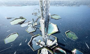 The Sky Mile Tower was the centrepiece of KPF's Next Tokyo 2045 project.