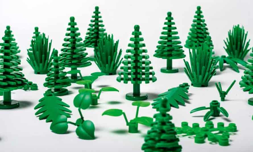 Pieces such as leaves, bushes and trees will be made entirely from plant-based plastic.