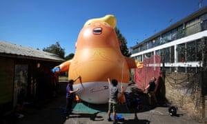 helium-filled Donald Trump blimp