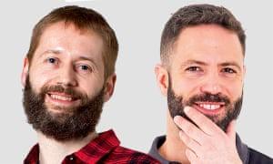 Rob (left) and Gavin