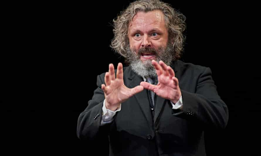 Michael Sheen in a performance of Faith Healer, streamed live and performed to an empty auditorium.
