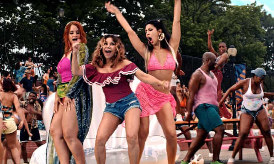 A scene from In the Heights, which tells of  impoverishment and hope in gritty New York, and was released in UK cinemas this weekend.