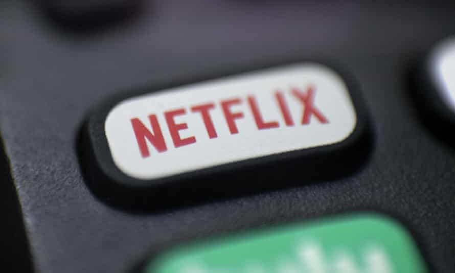 A remote showing a Netflix button