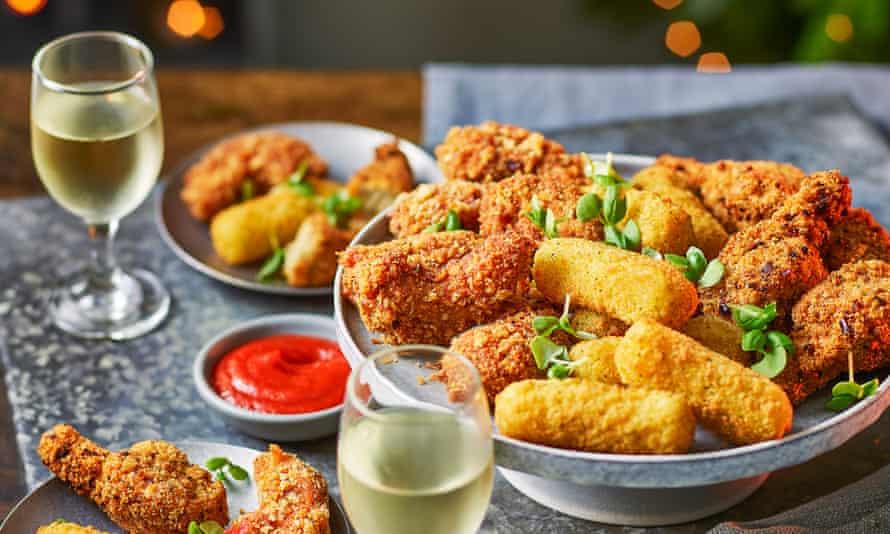 Tesco non-meat range of food; Plant Chef mozzarella sticks