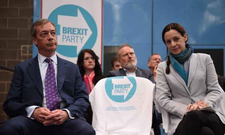 Nigel Farage and Annunziata Rees-Mogg.