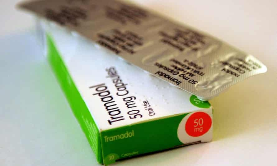 A packet of tramadol painkillers