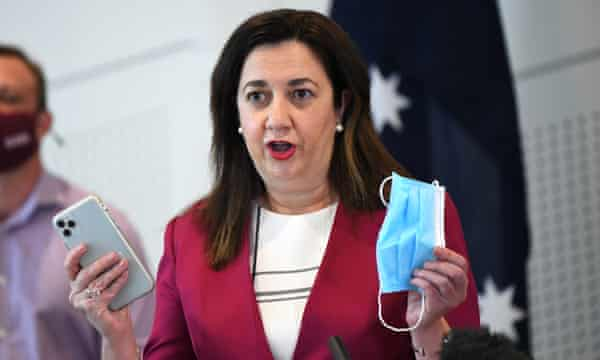 Queensland premier Annastacia Palaszczuk expressed fury at the state's supply volume.