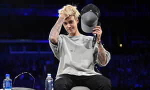 Justin Bieber takes questions from the audience on the LA leg of his Evening With Justin Bieber mini-tour.
