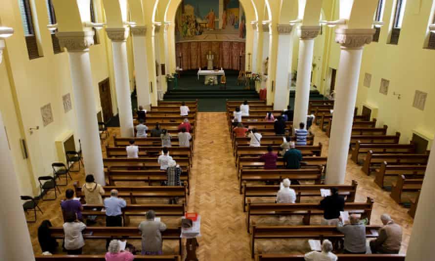 Mass in a church