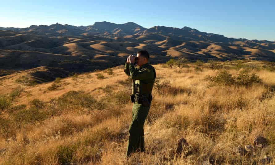 Border Patrol agent Vicente Paco, about 20 miles northwest of Nogales, Arizona.