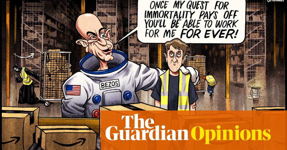Ben Jennings on Jeff Bezos's quest for immortality – cartoon