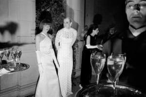 Anna Wintour, Clarissa Bronfman and Annette de la Renta at the Metropolitan Museum of Art's Costume Institute Gala, 1995