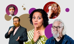 From left; Richard Brown, Frankie Boyle, Lubna Kerr, Janey Godley, Billy Connolly.