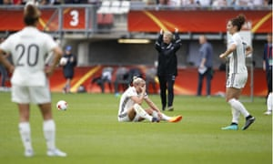 Germany players find it hard to take in their defeat by Denmark in the Euro 2017 quarter-finals.