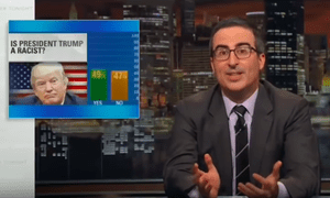 'When the former head of the Klan likes what you're doing, that should give you real pause'...John Oliver