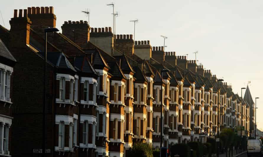 Terraced street in London