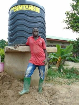 Richard Maila, a labourer at some brickworks near Nansio.