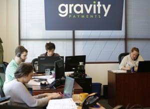 Sales representatives at Gravity Payments.