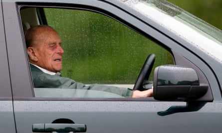 Prince Philip, 97, whose car crash has sparked a debate over the wisdom of older people driving.
