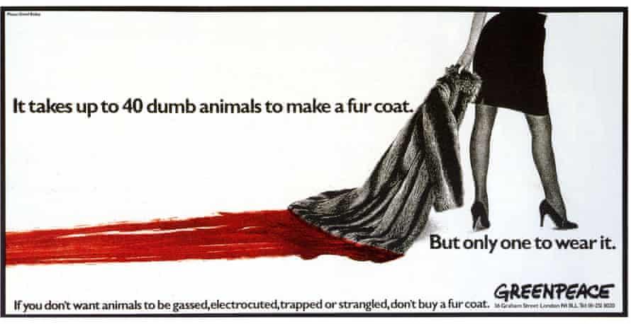 Greenpeace's 1986 anti-fur advertisement