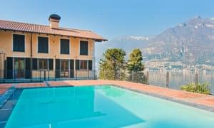 Home and away in Faggeto Lario, near Como, Italy