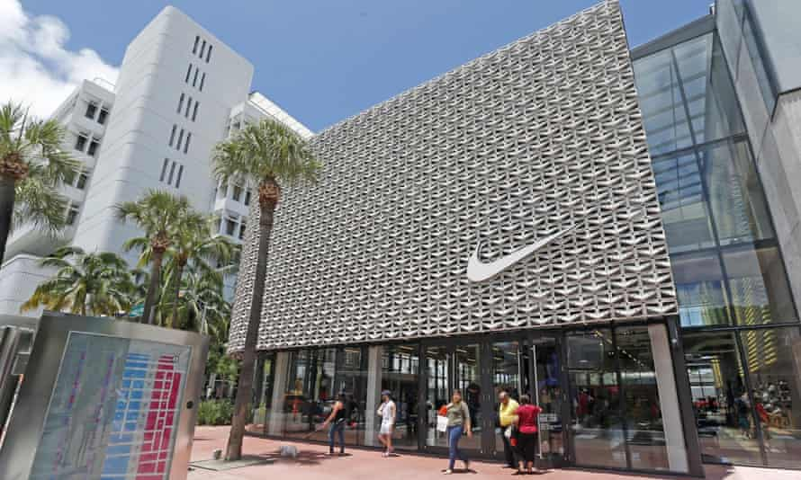 A Nike store in Miami Beach, Florida. Nike officials declined to comment on the lawsuit.
