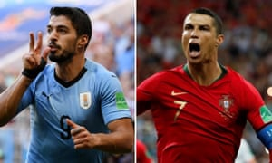 Uruguay's Luis Suárez and Portugal's Cristiano Ronaldo, regular rivals at domestic level with Barcelona and Real Madrid, go head-to-head at the World Cup on Saturday.