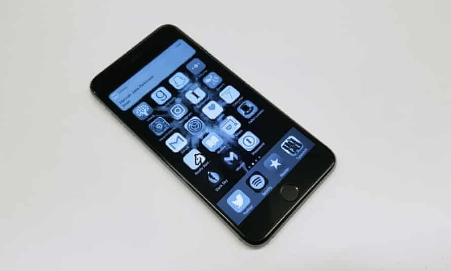Alex Hern's colourless iPhone.