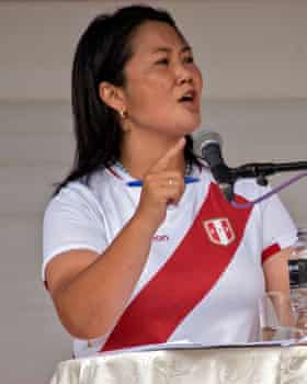 Keiko Fujimori, Castillo's opponent.