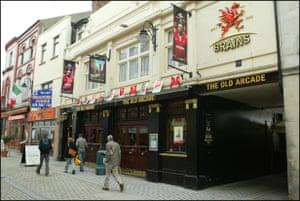 The Old Arcade pub on Church Street, Cardiff