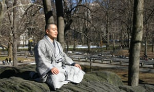 Korean Buddhist monk Haemin Sunim in New York.