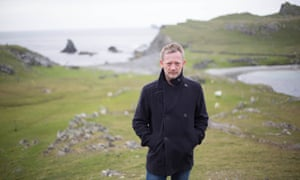Douglas Henshall as Shetland's DI Perez on location in Fair Isle.