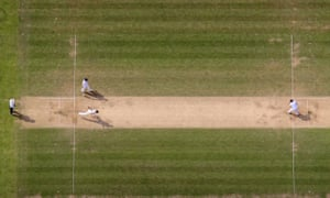 Mitchell Johnson in action as England start their batting attack