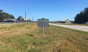 The Stono rebellion sign on a lonely stretch of the I-17 in South Carolina.