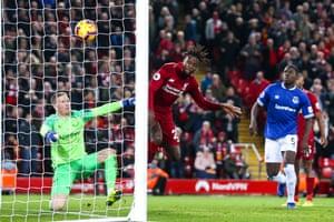 . 2 December: Liverpool's Divock Origi scores a late goal to defeat Everton.
