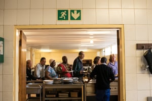 Patients at Gordonia Services, a residential facility for people with mental health conditions in Johannesburg
