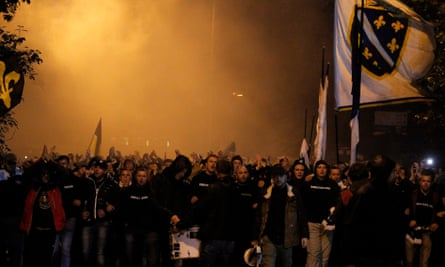 Bosnia-Herzegovina fans in Zenica for the Euro 2016 qualifier against Wales