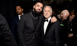 Drake and Neil Portnow backstage.
