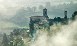 Monterchi shrouded in autumnal mist