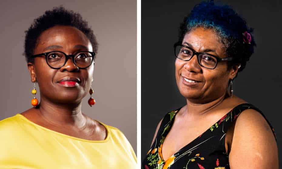 'Towering literary achievements'… Jennifer Nansubuga Makumbi (left) and Patrice Lawrence.