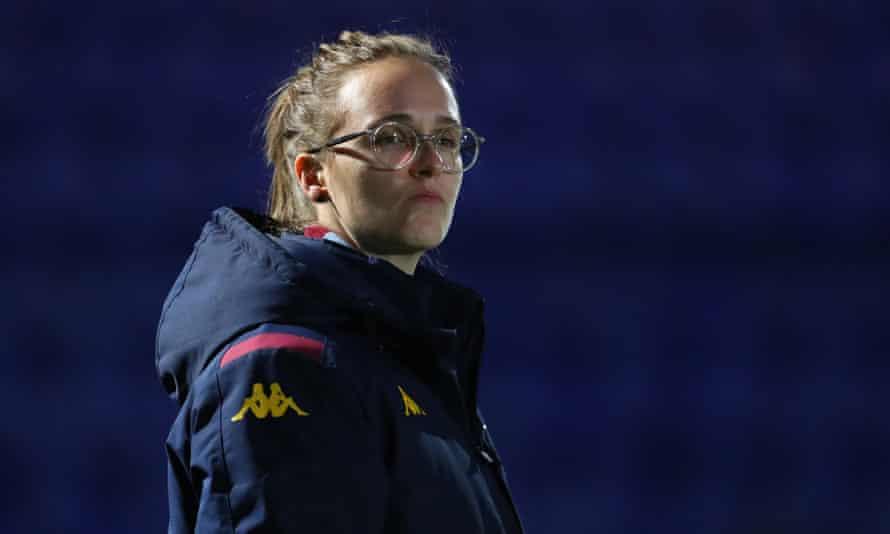Gemma Davies watches Aston Villa Women in January.