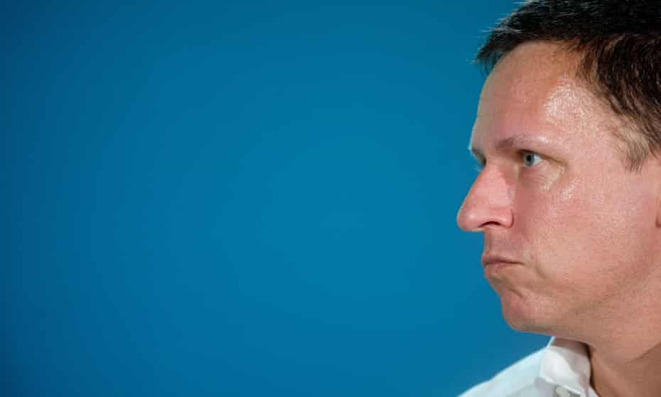 Peter Thiel, a well-known tech investor and Trump supporter, at a conference in San Francisco.