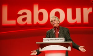 Addressing the Labour party conference in Brighton in 2005.