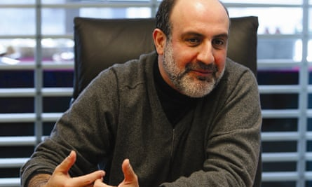 Nassim Nicholas Taleb … the big-faced festival messiah you'd follow into a river until the drugs wore off.
