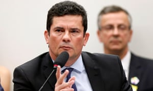 Sérgio Moro. Veja said its journalists had spent a fortnight poring over nearly 650,000 leaked Intercept messages between officials involved in the investigation.