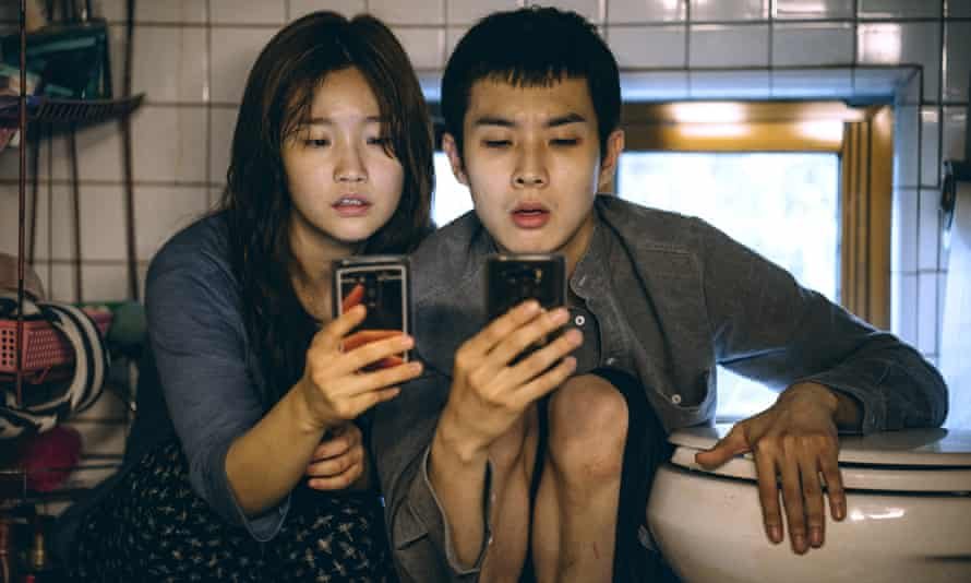 Park So-dam and Choi Woo-shik in Parasite