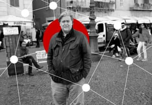 U.S. President Trump's former chief strategist Bannon walks in Piazza Navona in Rome