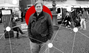 Steve Bannon, Cambridge Analytica's vice-president, in Rome.